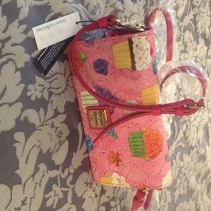 Dooney & Bourke Crossbody Wallet-Pink Cupcakes.